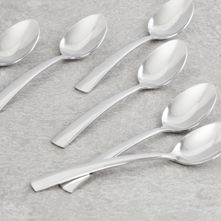 FNS Solo Solid Tea Spoon - Set of 6