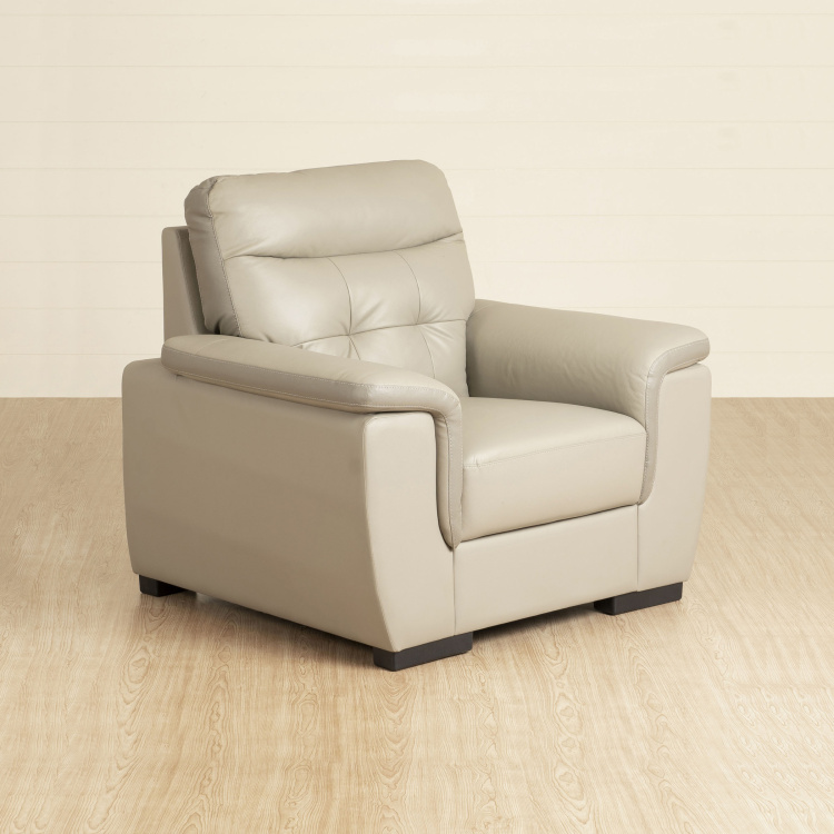 Corbis Leather 1-Seater Arm Chair