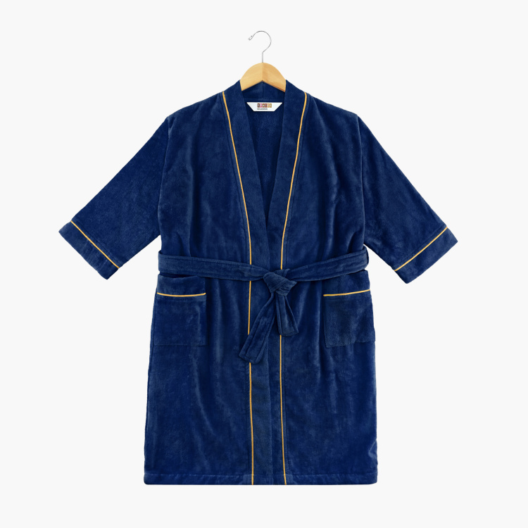 SPACES Occasions Textured Free Size Bathrobe