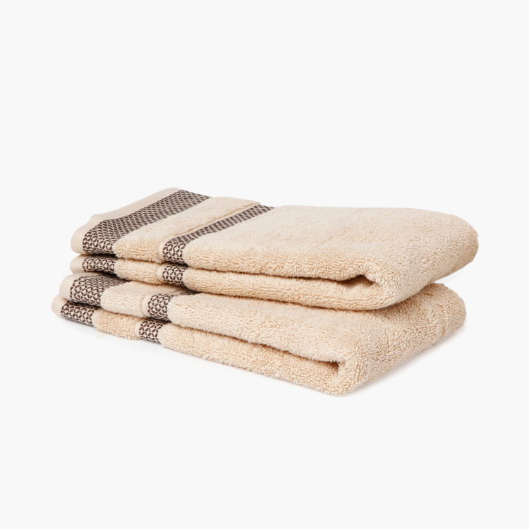 SPACES Textured Hand Towels - Set of 2 - 40 x 60 cm