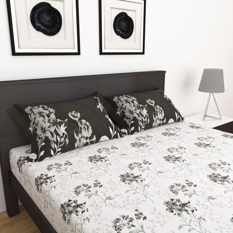Carnival Printed 3-Pc. Double Bed Sheet Set- 228 X 254 cm