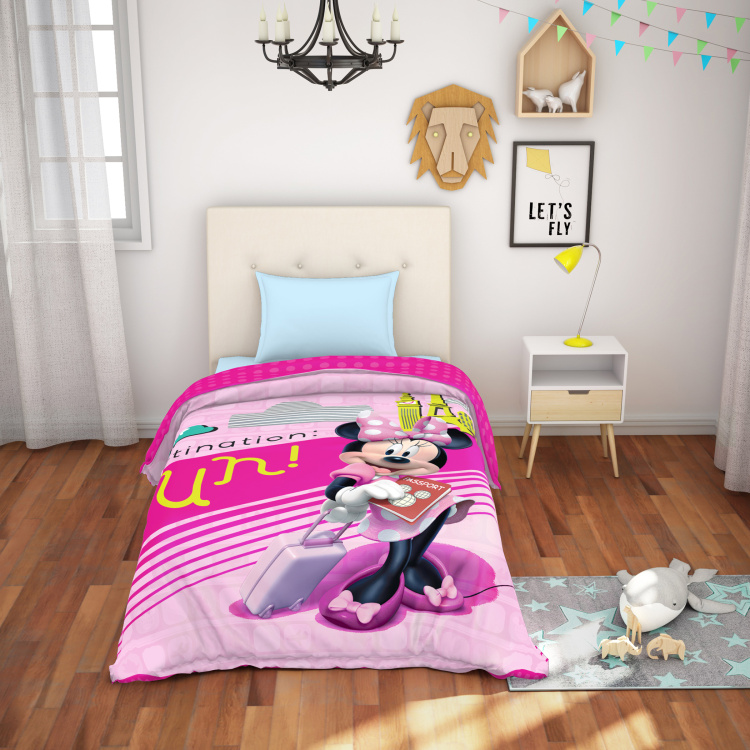 SPACES Minnie Mouse Print Single Bed Comforter - 152 x 220 cm