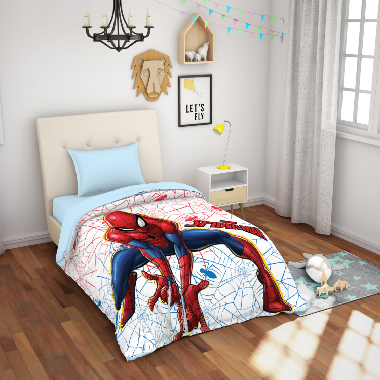 SPACES Essentials Spiderman Print Single Bed Blanket- 149 x 218 cm