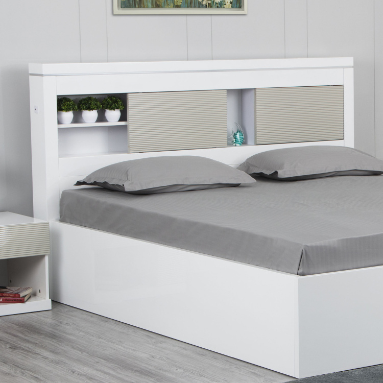 Alps Queen Size Headboard with Storage