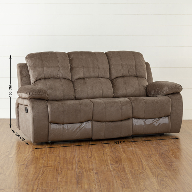 Lawson Textured Three-Seater Recliner