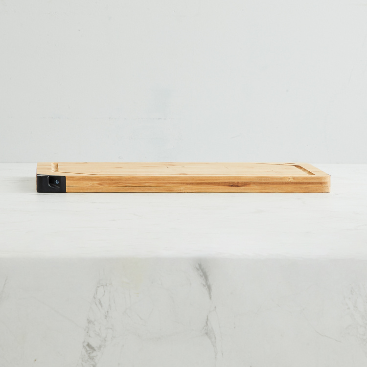 Truffles-Tranquil Bamboo Cutting Board with Knife Sharpener