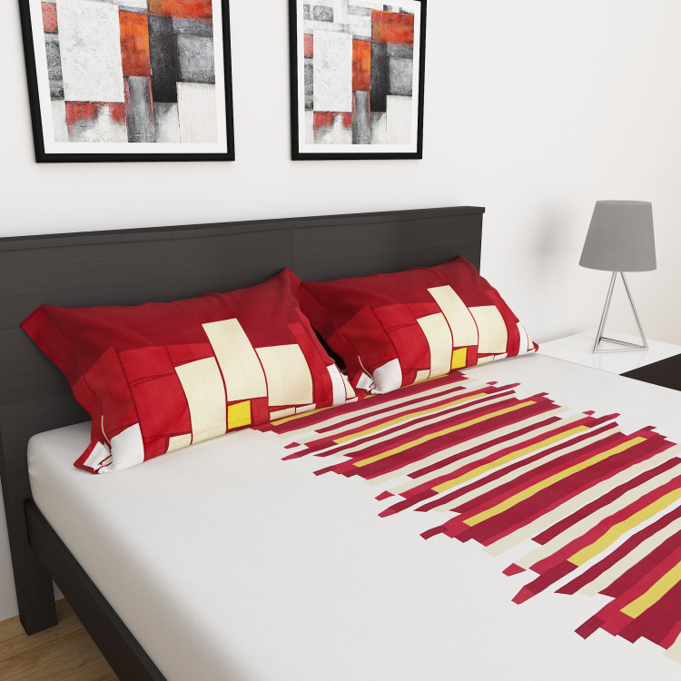 Harold Printed 3-Pc. Double Bed Sheet Set- 228 X 254 cm