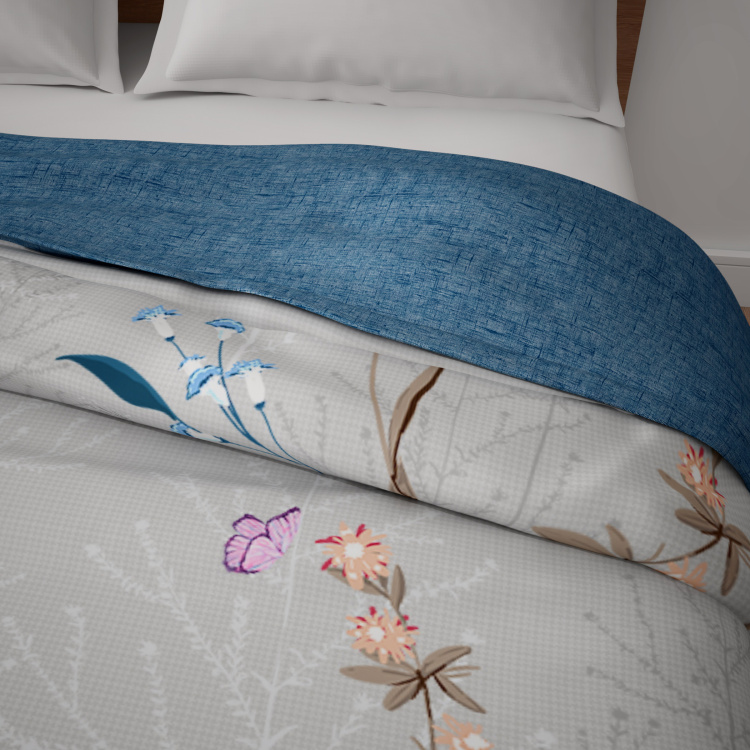 SPACES Floral Print Double Bed Comforter - 218 x 224 cm