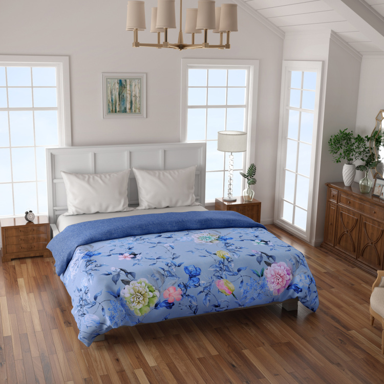 SPACES Floral Print Double Bed Comforter - 218 x 224 cms