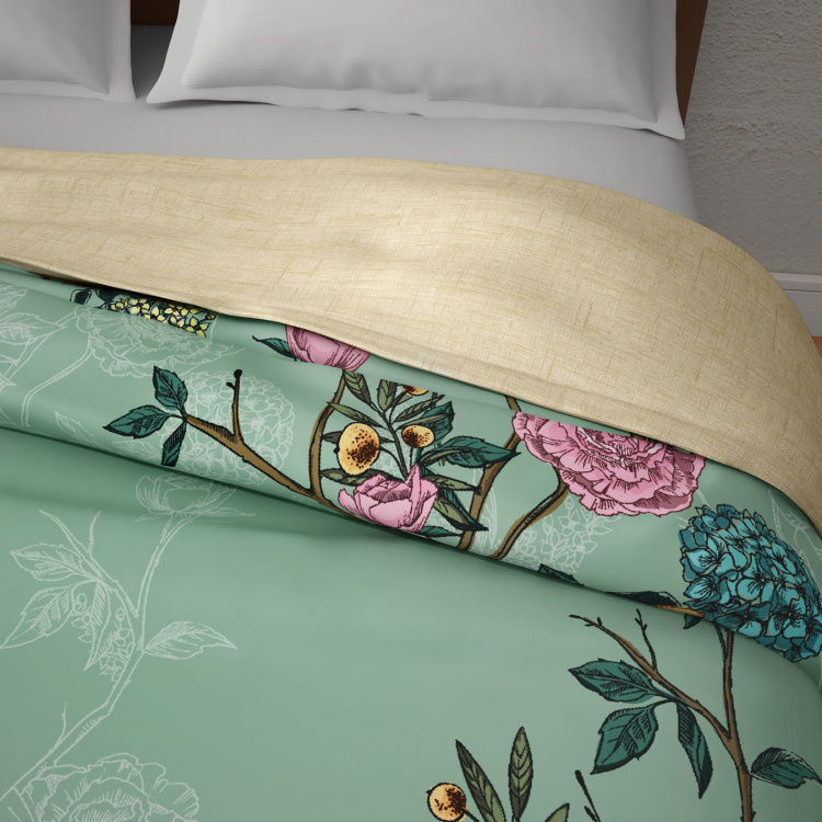 SPACES Occasions Floral Print Double Bed Comforter - 218 x 224 cm