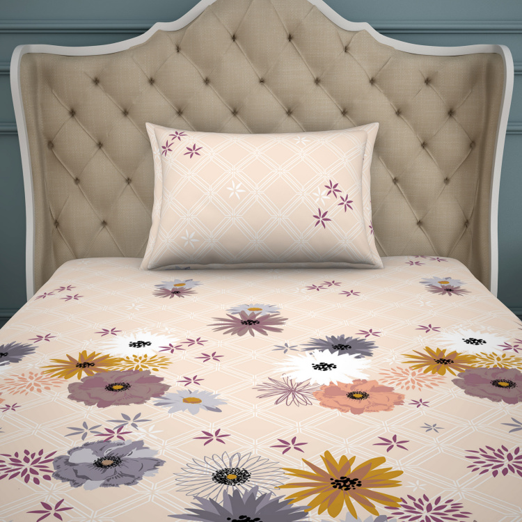 SPACES Essentials Floral Print 2-Pc. Bedsheet Set - 150 x 220 cm