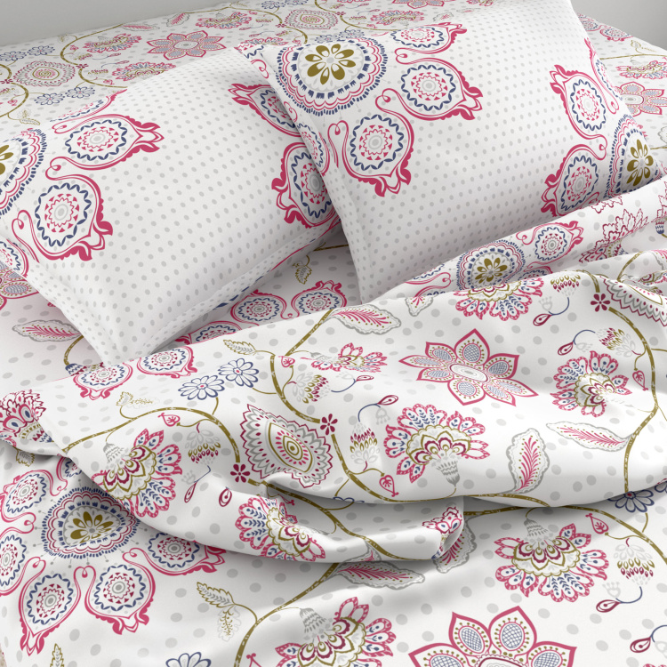SPACES Essentials Printed 3-Pc. Double Bedsheet Set- 274 X 274 cm