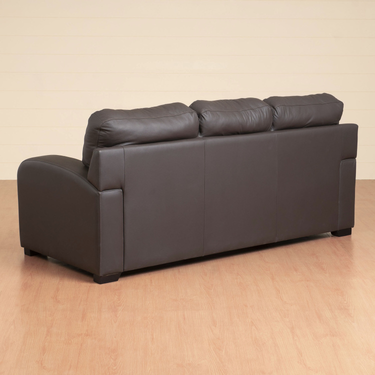 Vista Three Seater Half Leather Sofa