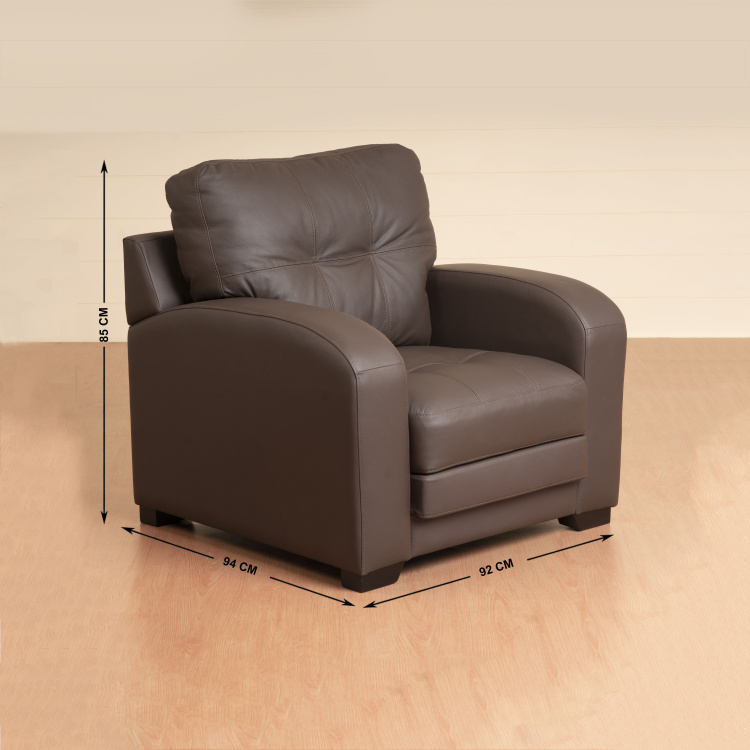 Vista One Seater Half Leather Sofa