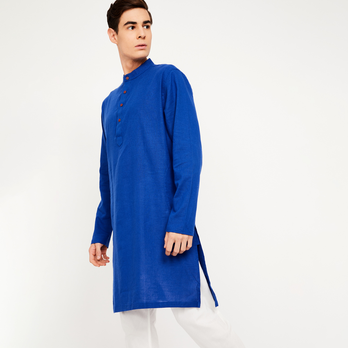 MELANGE Solid Full Sleeves Kurta