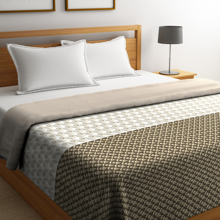 PORTICO Cadence Printed Double Bed Comforter - 224 x 274 cm