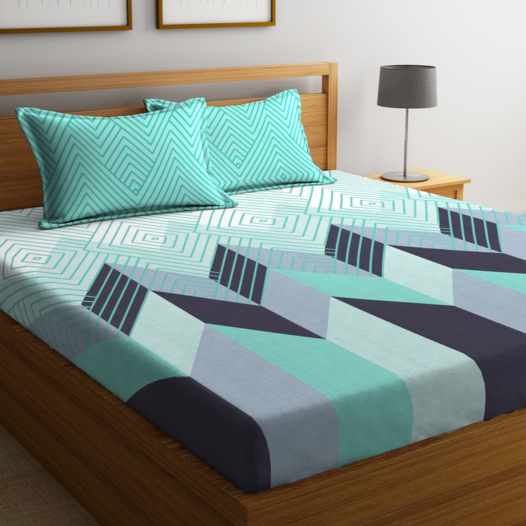 PORTICO Cadence Printed 3-Piece King-Size Bedding Set - 274 x 274 cm