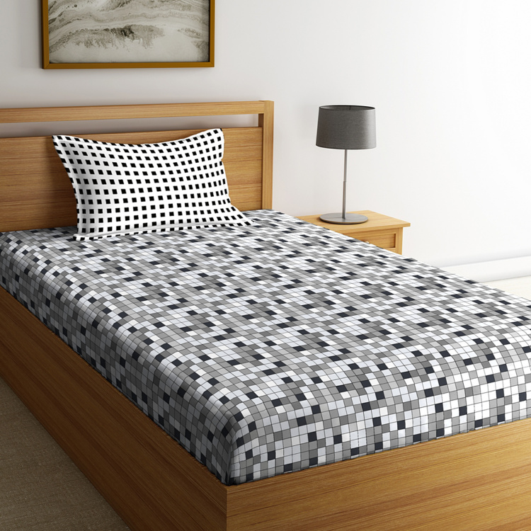 PORTICO Hashtag Printed 2-Piece Single Bedding Set - 152 x 229 cm