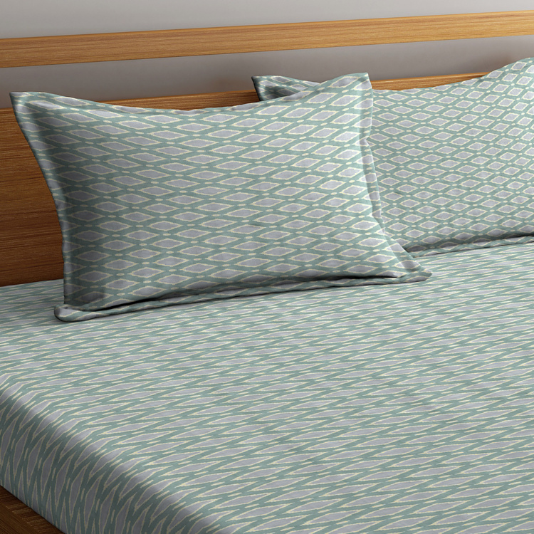 PORTICO Melange Printed 3-Piece King-Size Bedding Set - 274 x 274 cm