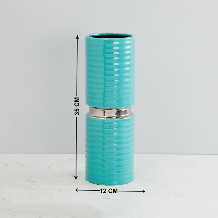 Splendid Textured Cylindrical Vase