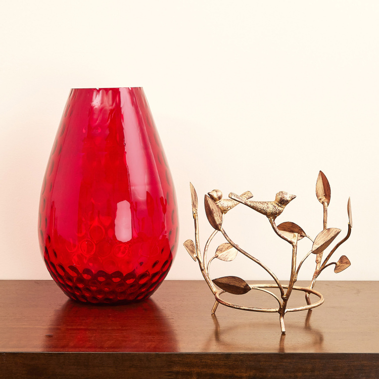 Splendid Solid Vase with Metal Stand
