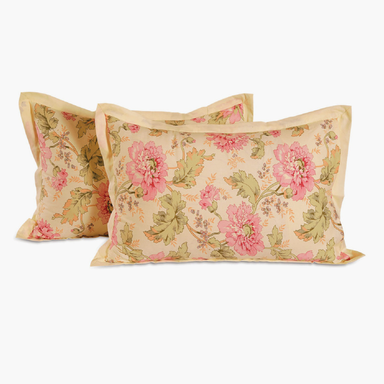 SWAYAM Floral Print Pillow Covers - Set of 2 - 46 x 71 cm