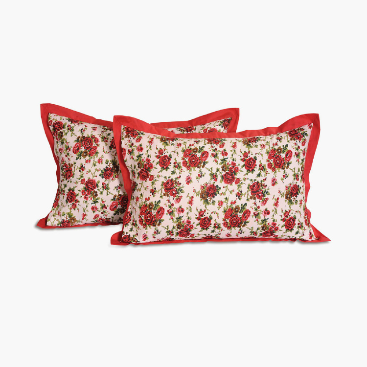 SWAYAM 2-Piece Floral Print Pillow Covers - 46 x 71 cm