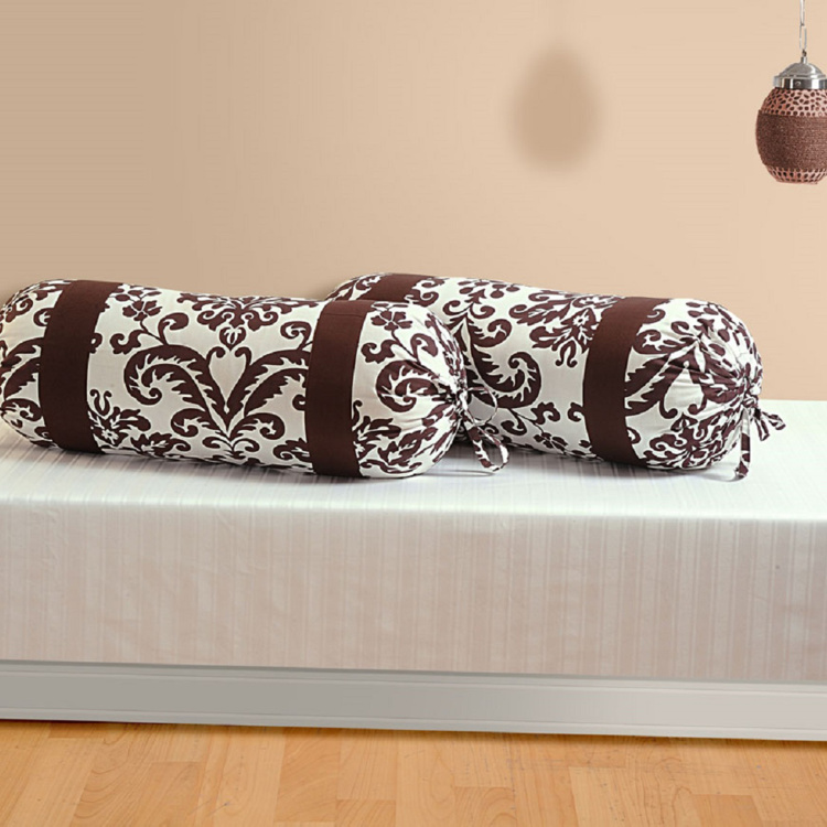 SWAYAM Floral Print Bolster Covers - Set of 2 38 x 76 cm