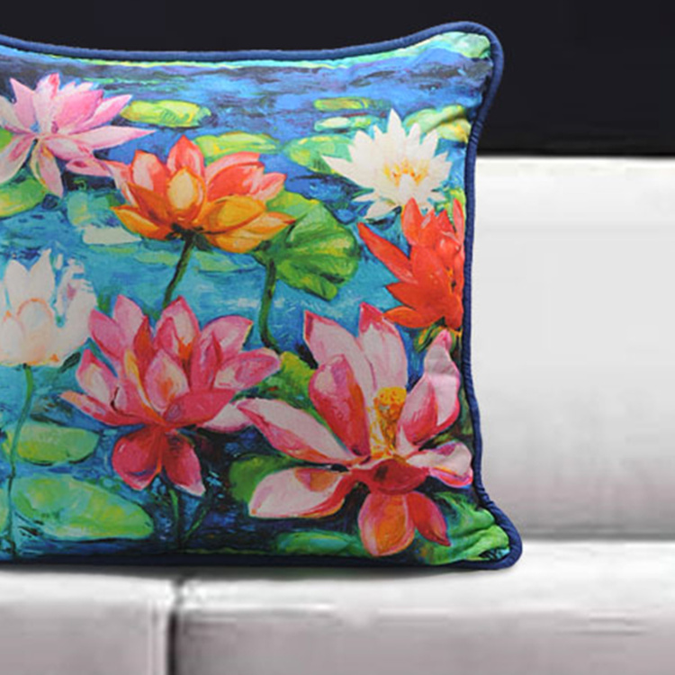 SWAYAM Floral Cushion Covers - Set of 2 - 40 x 40 cm
