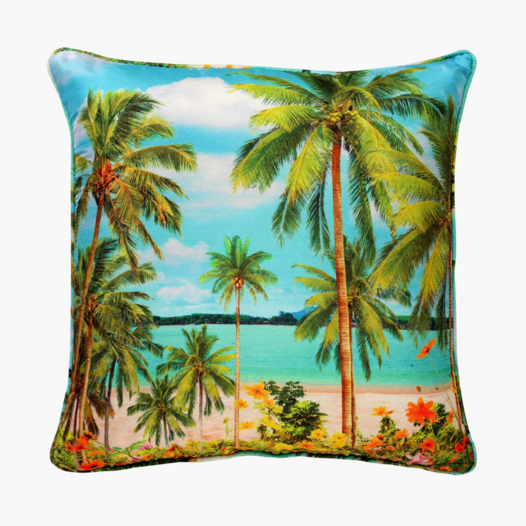 SWAYAM Graphic Print Cushion Covers - Set of 2 40 x 40 cms