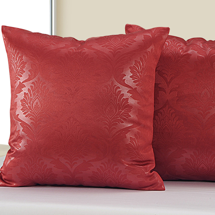 SWAYAM Paisley Jacquard Cushion Covers - Set of 2 - 40 x 40 cm