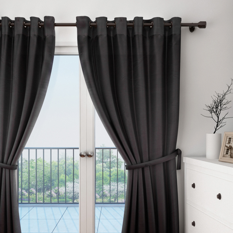 SWAYAM Solid Blackout Door Curtain - 121 X 228 cm