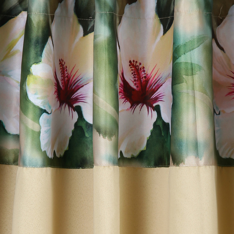 SWAYAM Printed Detail  Blackout Door Curtain - 121 X 228 cm