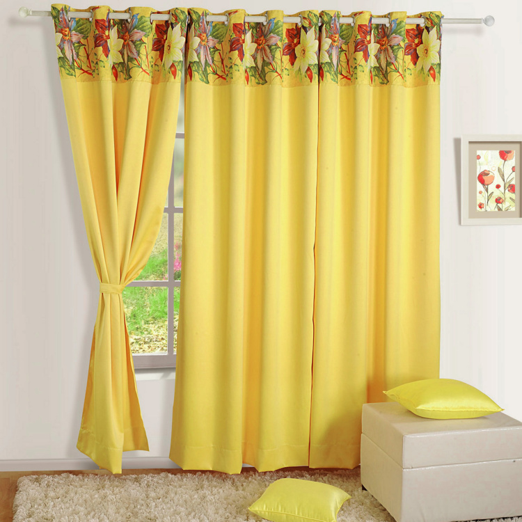 SWAYAM Printed Door Curtain - 121 x 228 cm