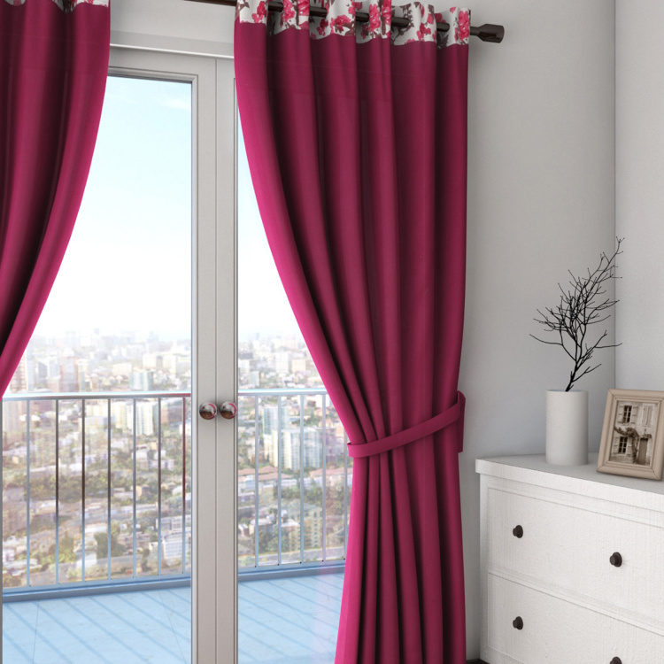 SWAYAM Printed Semi-Blackout Long Door Curtain- 137 X 274 cm