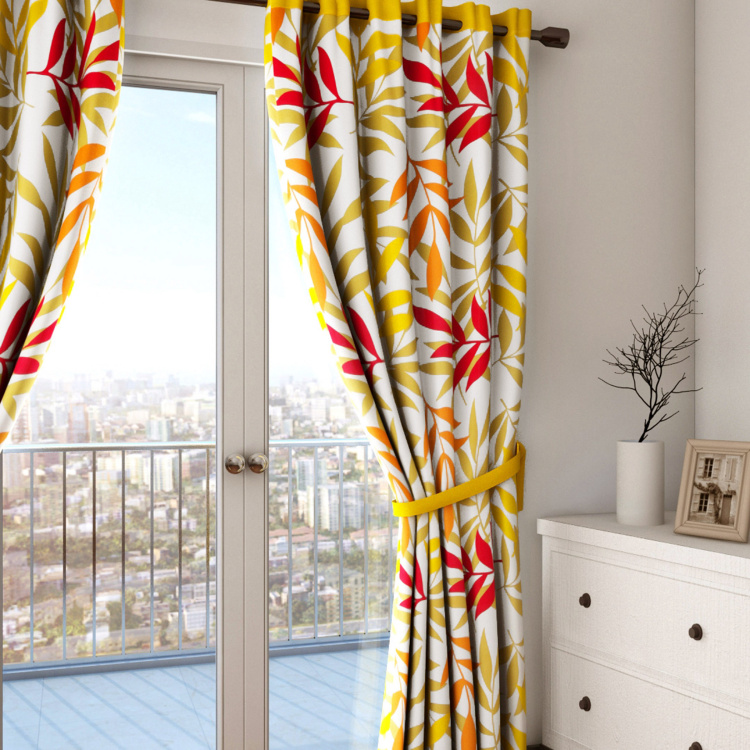 SWAYAM Tropical Print Door Curtain - 137 x 274 cm