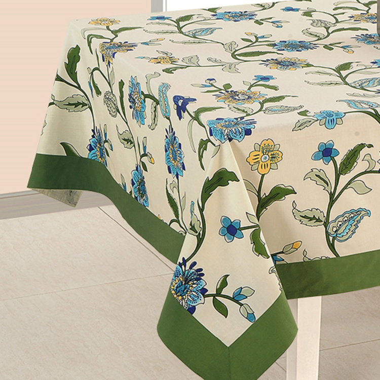 SWAYAM Printed 6-Seater Table Cloth - 150 x 225 cm