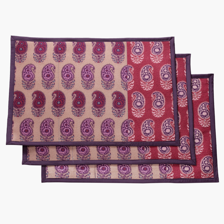 SWAYAM Paisley Print Placemats - Set of 2