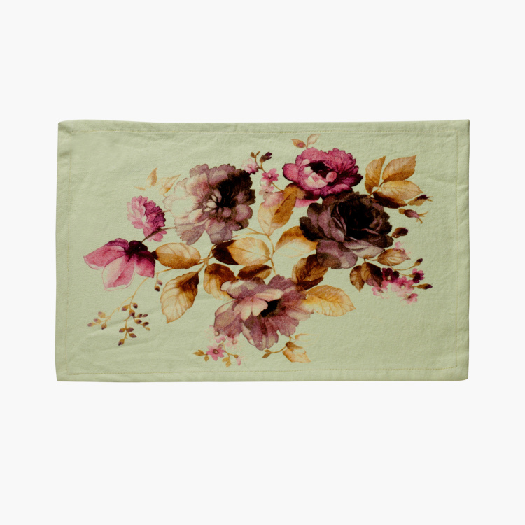 SWAYAM Floral Print Placemats - Set of 4