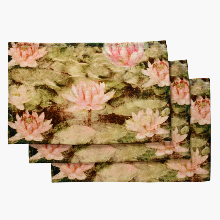 SWAYAM Floral Print Placemats - Set of 6