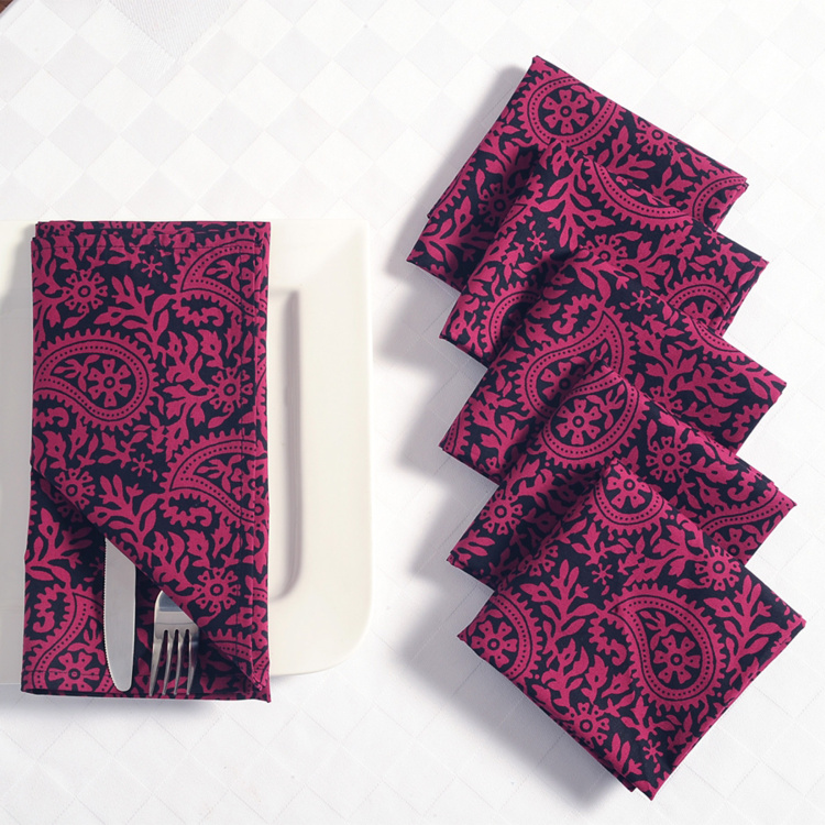 SWAYAM Printed Napkins - Set of 6