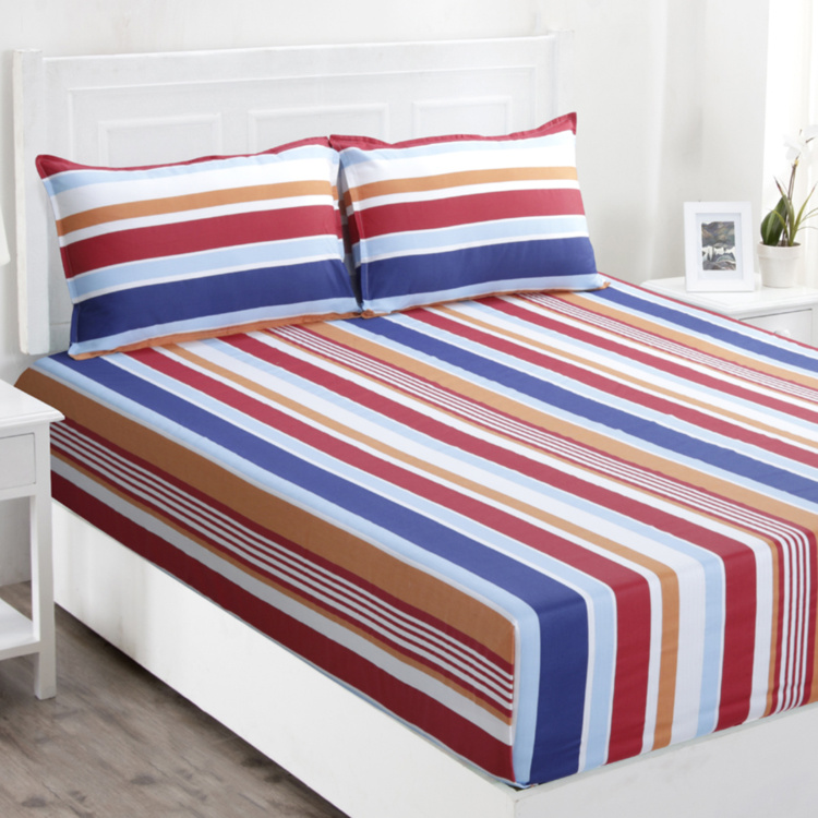 MASPAR Zephyr Striped 3-Piece Queen-Size Bedding Set - 224 x 275 cm