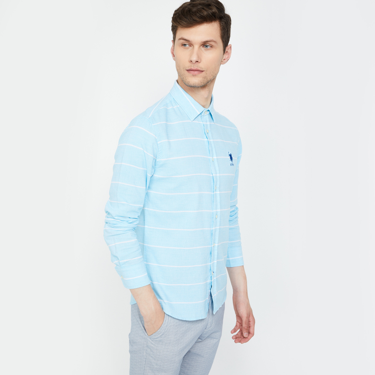 U.S. POLO ASSN. Striped Regular Fit Casual Shirt