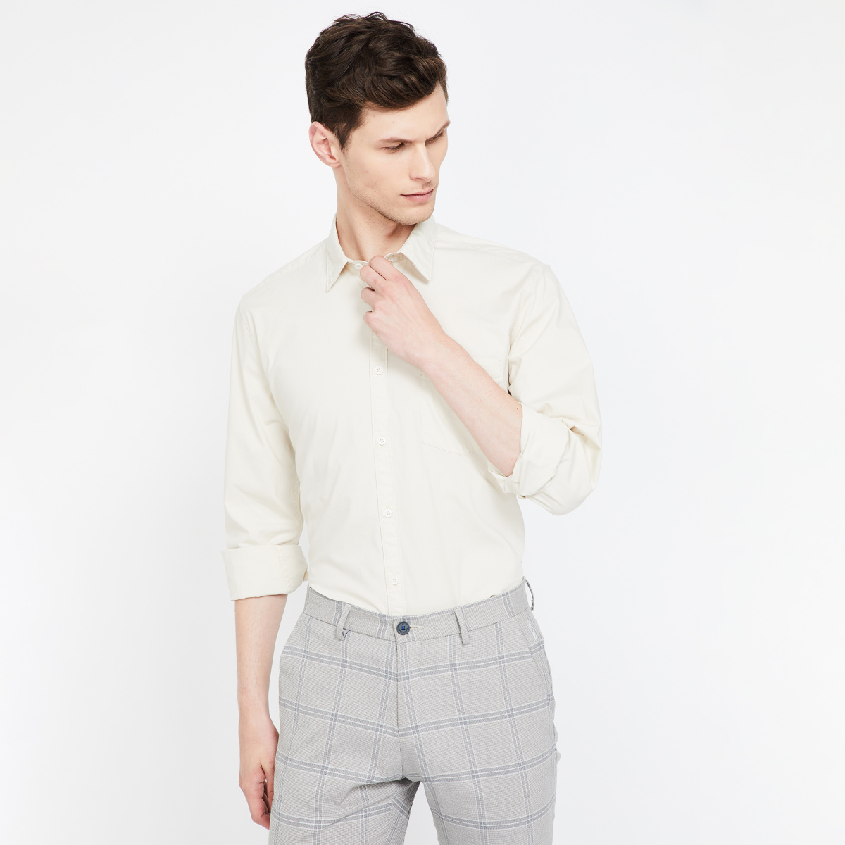 PARX Solid  Slim Fit Casual Shirt